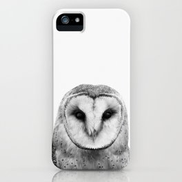 Black and white Owl iPhone Case