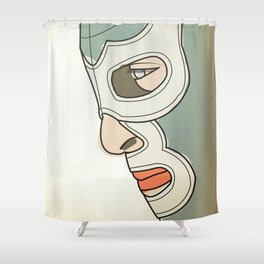 BLUE DEMON Shower Curtain