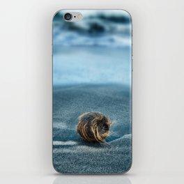 Lost on black sands iPhone Skin