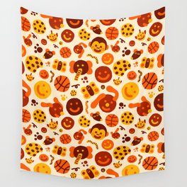 Silly Brown Pattern Wall Tapestry