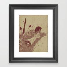 Helvete Forest Framed Art Print
