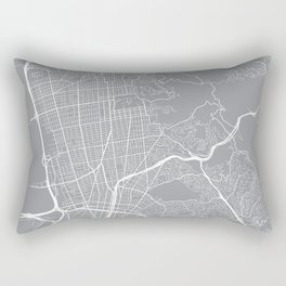 Berkeley Map, California USA - Pewter Rectangular Pillow