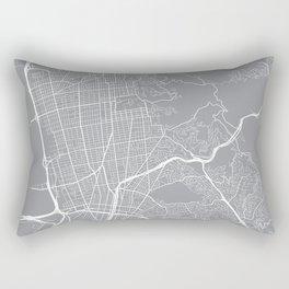 Berkeley Map, California USA - Pewter Rectangular Pillow