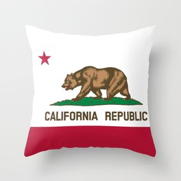 California State Flag Throw Pillow