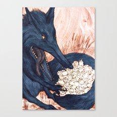 Une Faim de Loup (The Black Wolf) Canvas Print
