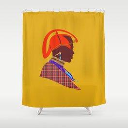 kenyan massai warrior artwork atalanta creatives design Shower Curtain