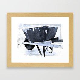 Wheelbarrow Framed Art Print