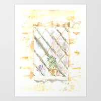 Italy Window 2 Art Print