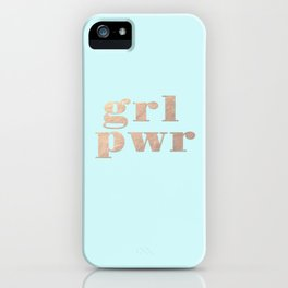 GRL PWR - rose gold iPhone Case