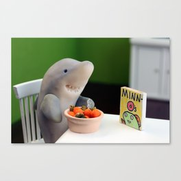 Breakfast for Sharks Canvas Print