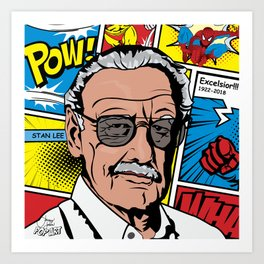 Stan Lee | Pop Art Art Print