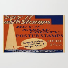 Vintage poster - Say It With Stamps Rug