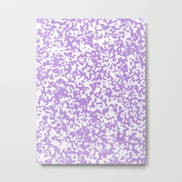 Small Spots - White and Light Violet Metal Print