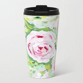 Pink rose floral bouquet Metal Travel Mug