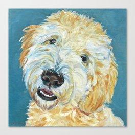 Stanley the Goldendoodle Dog Portrait Canvas Print