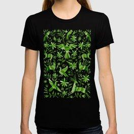 Mexican Otomí Design in Green T-shirt