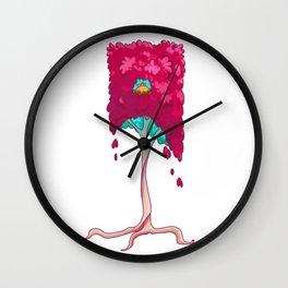 Square Tree Pattern Wall Clock