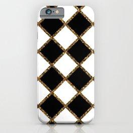 Geometric ornament gold seamless pattern iPhone Case