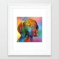 dog Framed Art Prints featuring dog by mark ashkenazi