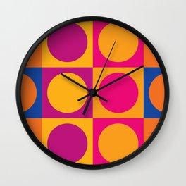 Swinging 60s Pop Art Pattern / Mod Design Wall Clock