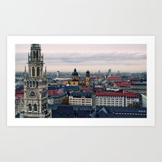 Towering Bavaria  Art Print