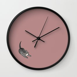 Brown Kitten Wall Clock