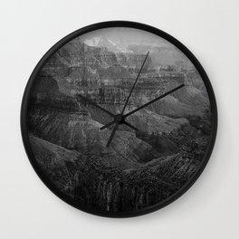 Grand Canyon North Rim Black and White Wall Clock