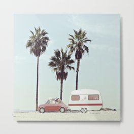 NEVER STOP EXPLORING - CAMPING PALM BEACH Metal Print