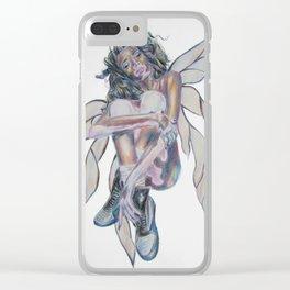 Vitiligo Fairy Clear iPhone Case