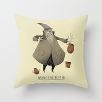 potter Throw Pillows featuring the potter. by Louis Roskosch