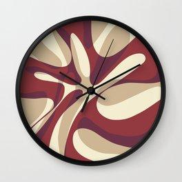 Bordeaux Wave Wall Clock