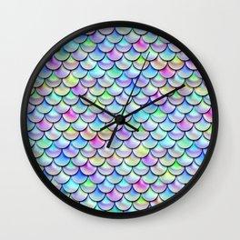 Rainbow Bubble Scales Wall Clock