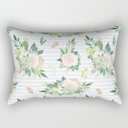 succulent, floral, leaf Rectangular Pillow