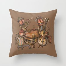The Small Big Band Throw Pillow