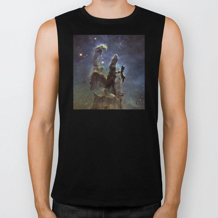 Pillars of Creation (Eagle Nebula) Biker Tank