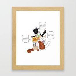 The Boys of Breaking Cat News  Framed Art Print