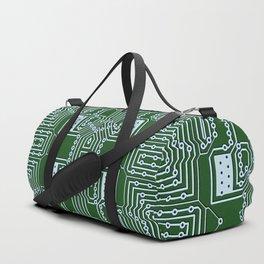 Computer Geek Circuit Board Pattern Duffle Bag