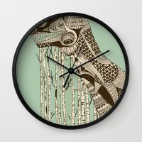 dino Wall Clocks featuring dino by lille-lle