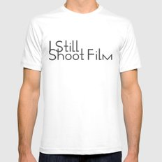 I Still Shoot Film! White LARGE Mens Fitted Tee