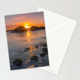 On the beach at nightfall Stationery Cards