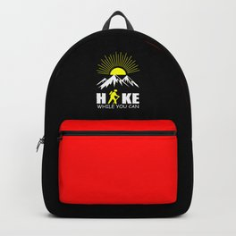 hike while you can quote Backpack