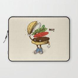 Burger Greeting Laptop Sleeve