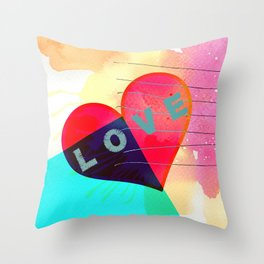 Valentines day, heart, LOVE Throw Pillow
