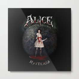 Alice Madness Returns Hysteria Game Design Metal Print