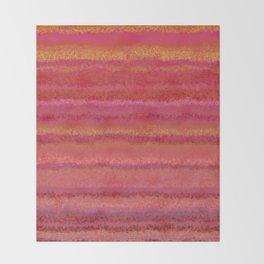 Fuzzy Sunset Stripes Throw Blanket