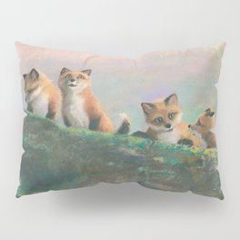 Red Fox Kits First Outing Pillow Sham