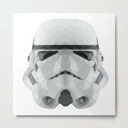 Polygon Stormtrooper Metal Print