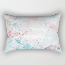 Abstract hand painted pink teal aqua  watercolor marble Rectangular Pillow