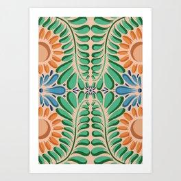 retablo peruvian pattern Art Print
