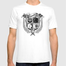 Family Coat of Arms White Mens Fitted Tee MEDIUM